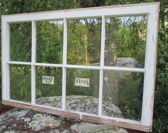 40 x 25 Large Vintage Window sash old  8 pane frame  from 1948