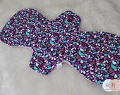 Purple Teal Vines Cotton Pads - Custom Mama Cloth - Menstrual Pads - Reusable Cotton Pads - CSP - Cloth Sanitary Pads - Made to Order