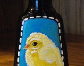 BABY CHICK Hand Painted Vanilla Bottle