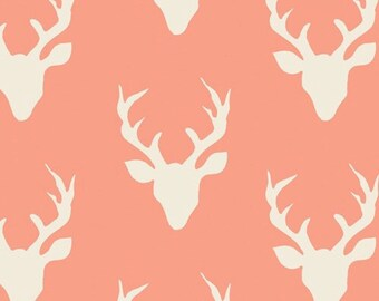 Buck Forest Knit in Peach - Hello Bear for Art Gallery Fabric