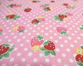 Japanese Fabric YUWA Sugar Strawberry Pink Fat Quarter