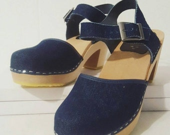 ON SALE Cape Clogs of Sweden Denim Mary Jane Size 38 EU
