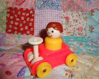 Fisher-Price Little People Boy In Cart
