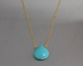 Turquoise Necklace-(10mm)
