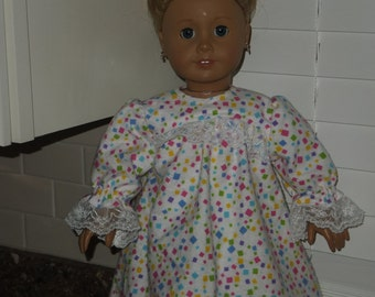 "American Girl Nightgown/Pajamas 18"" Doll Clothing"