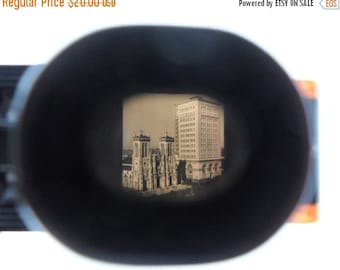 ON SALE Tru-Vue, Bakelite, Stereoscope, Film, Movie, Viewer, 1940's, Vintage, With, Historical, San Antonio, Texas, Made in Rock Island ill.