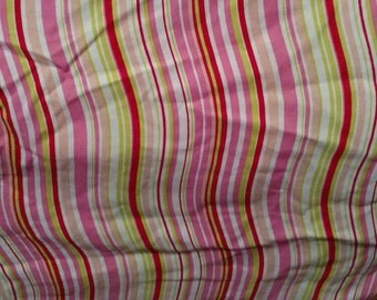 Full Fitted Curvy Stripe Red Lime Green Pink