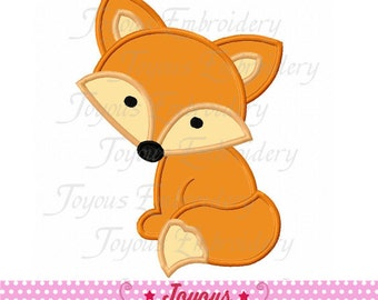 Instant Download Fox Applique Machine Embroidery Design NO:2049