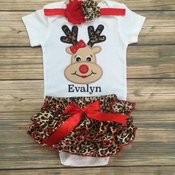 Santa reindeer rudolph wild about christmas newborn christmas outfit