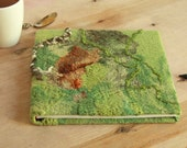 Felted journal Art journal Felted notebook Woodland wedding album Fairy wedding gift Felted album Wedding guest book Wool sketchbook