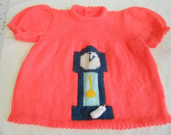 Unique Baby Girls Hand Knitted Dress,20-22 inch Chest,Nursery Rhyme Collection