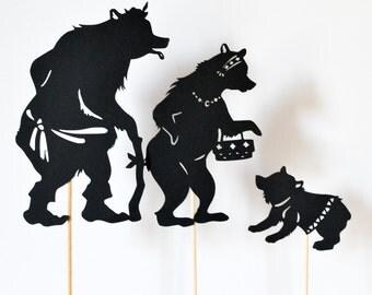 Goldilocks and the Three Bears: Abridged Shadow Puppet Set