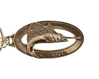 Pewter ~ Sailfish Keychain ~ SK004
