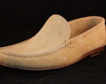 Suede Leather Loafer Shoes / Suede Leather Moccasins / Luxury Shoes