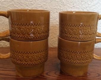 Vintage Stacking Mugs Set of 4 Japan