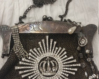 Altered Mesh Purse Statement Crown