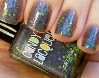 Monster House - Fall Into Halloween collection -handmade glitter nail polish