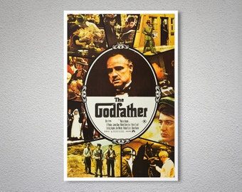The Godfather, Marlon Brando Vintage Movie Poster - Poster Paper, Sticker or Canvas Print