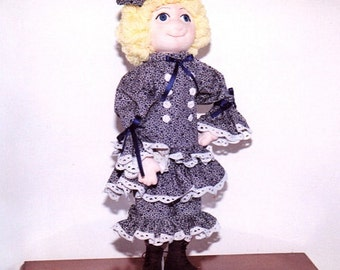 Soft Sculpture Cloth Doll PDF Melissa: Setting  Acrylic Eyes in Cloth doll faces