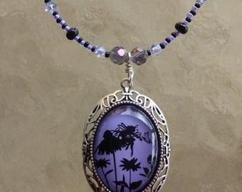 Purple Fairy Beaded Necklace
