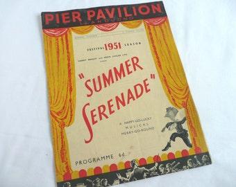 Vintage theatre programme - Festival of Britain theatre program - English theater program - 1950s theatre programme - musical program -
