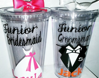 Wedding Gift For Junior Groomsmen : Junior Groomsman GiftWedding TumblerPersonalized Junior ...