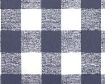 Gunmetal Dark Gray White Anderson Buffalo Check Curtains - Pinch Pleat - 84 96 108 120 Long - Optional Blackout or Cotton Lining
