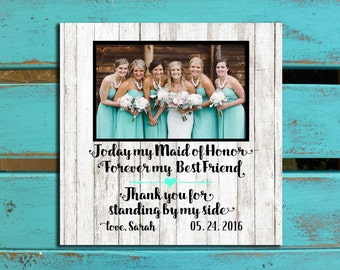 Bridal Party gift, Bridesmaid gift, Bridesmaid photo mat, Rehearsal gift, Wedding thank you, Maid of Honor gift, Matron of Honor gift,
