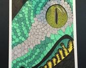 Dragon snake head