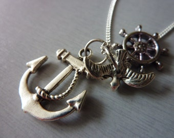 Anchor Necklace, Mens Jewelry, Tattoo Fashion Jewelry Accessoreis