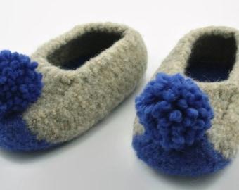 Child's felted wool slipper US sizes 13, 2
