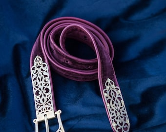 "Leather Belt ""King of the East""; Medieval Belt;"