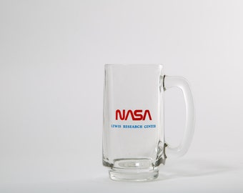 NASA Glass Mug Cup Handle