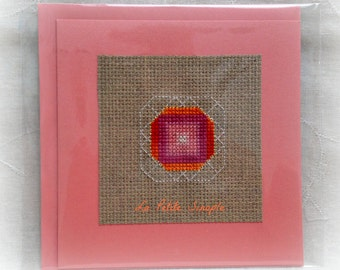 "Embroidered card ""Bollywood"""