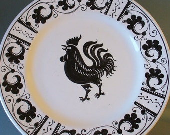 Made in Italy Black and White Plates PV Peasant Village (3)