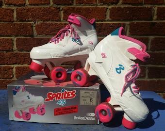 Vintage 80s 90s Sprites 409 Roller Derby Skates Size 6
