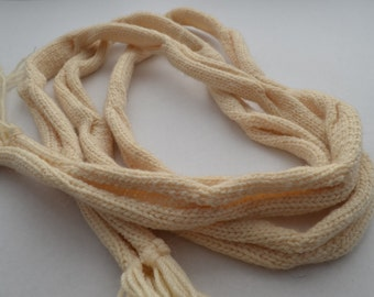 Handmade Cream Knitted Scarf