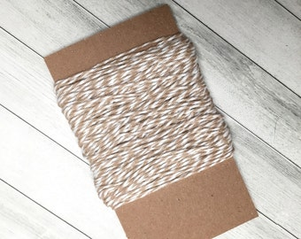 Kraft Twine Striped, Gift Packaging, Ribbon, Bakers Twine, Gift Wrapping