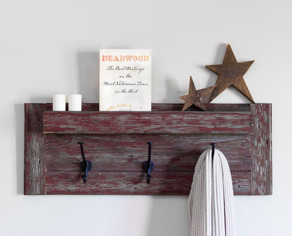 Farmhouse Coat Rack Wall Rack With Hooks And Mail Holder