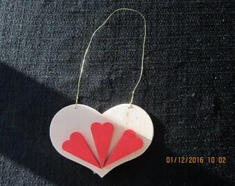 Trio of Hearts Valentine's Ornament