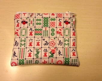 Mahjong print coin purse