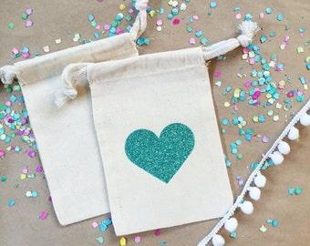 Glitter heart bag- Hangover Kit bag- Bachelorette Party Favor bag-Wedding Favor-Hangover Kits Bags-DIY Party Hangover Bags- Wedding Hangover