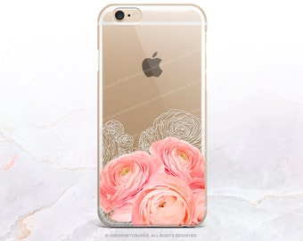 iPhone 8 Case iPhone X Case iPhone 7 Case Ranunculus Clear GRIP Rubber Case iPhone 7 Plus Clear Case iPhone SE Case Samsung S8 Case U188