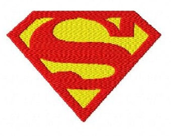 Superman logo machine embroidery design 2 inch instant download