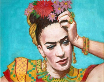 30% Off Today Frida Kahlo Art Print Canvas Wrap Mexican Folk Art Frida Art Large Poster Painting wall Art