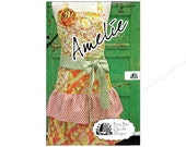 Full Apron Paper Pattern, Busy Bee Quilt Designs, Amelie, Ruffles, Flirty