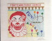 Pontchartrain Beach Ornament - Ready for Stitching