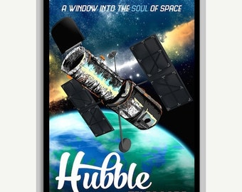 "50% OFF Hubble Telescope Space Poster - A window into the soul of space - 24""x36"""