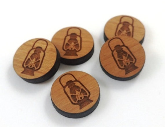 Laser Cut Supplies-8 Pieces.Lantern Charms - Laser Cut Wood -Earring Supplies- Little Laser Lab Sustainable Wood Products