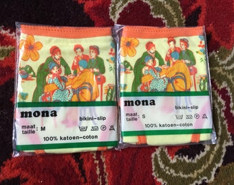Vintage 70's stretch nylon  panties deadstock Mona